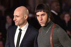 © Licensed to London News Pictures. 22/02/2016. MARK STRONG and SASHA BARON COHEN attend the GRIMSBY Film premiere. The film centres around a black-ops spy whose brother is a football hooligan.  London, UK. Photo credit: Ray Tang/LNP