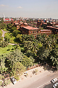 View of Secretariat complex, Yangon, Myanmar.