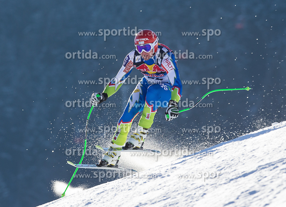23.01.2013, Streif, Kitzbuehel, AUT, FIS Weltcup Ski Alpin, Abfahrt, Herren, 2. Training, im Bild Andrej Sporn (SLO) // Andrej Sporn of Slovenia in action during 2nd practice of mens Downhill of the FIS Ski Alpine World Cup at the Streif course, Kitzbuehel, Austria on 2013/01/23. EXPA Pictures © 2013, PhotoCredit: EXPA/ Johann Groder
