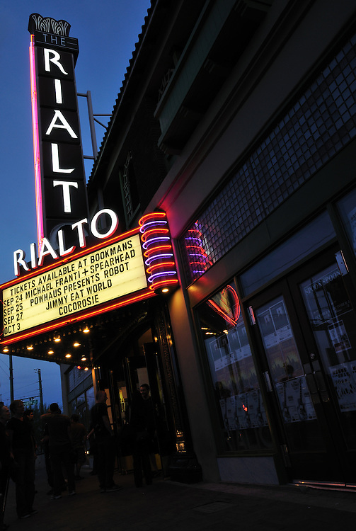 Line outside the Rialto Theatre during 2nd Saturdays Downtown in Tucson, Arizona. Event photography by Martha Retallick.