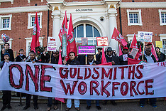14 Feb 2019 - Protesters demand end to outsourced security staff at Goldsmiths.