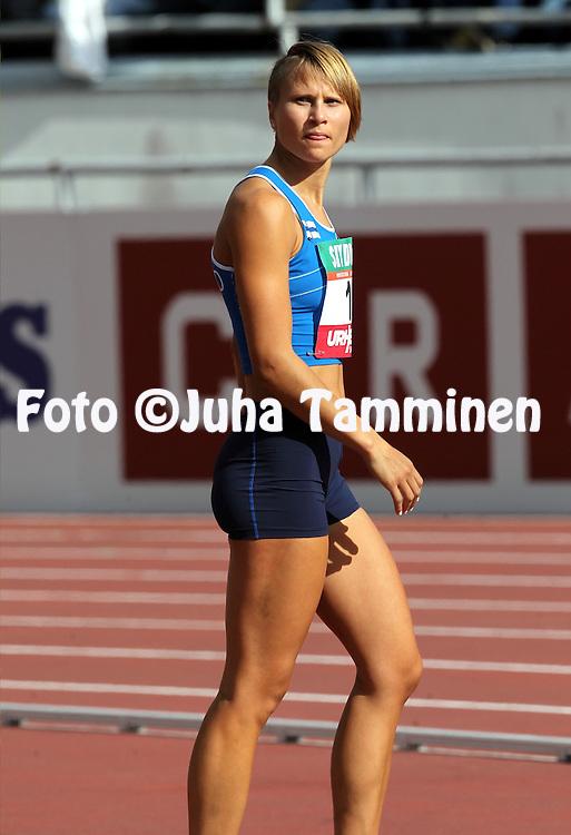 31.8.2014, Olympiastadion, Helsinki.<br /> Suomi - Ruotsi yleisurheilumaaottelu. <br /> Naisten korkeus.<br /> Laura Rautanen - Suomi