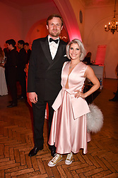 Pips Taylor and Tom Hamilton at the Floral Ball in aid of Sheba Medical Center hosted by Laura Pradelska and Zoe Hardman and held at One Marylebone, 1 Marylebone Road, London England. 14 March 2017.