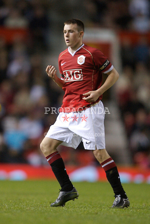 Manchester, England - Thursday, April 26, 2007: Manchester United's captain Sam Hewson in action against Liverpool during the FA Youth Cup Final 2nd Leg at Old Trafford. (Pic by David Rawcliffe/Propaganda)