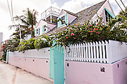 Old clapboard house in Dunmore Town, Harbour Island, The Bahamas