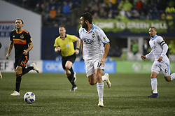 October 8, 2018 - Seattle, Washington, U.S - Seattle forward WILL BRUIN (17) chases down a ball as the Houston Dynamo visits the Seattle Sounders in a MLS match at Century Link Field in Seattle, WA. (Credit Image: © Jeff Halstead/ZUMA Wire)