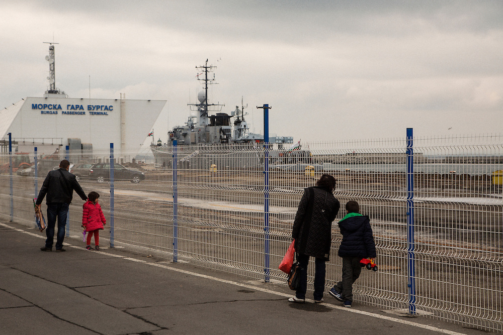 The port of Burgas, Bulgaria. Prime Minister Boyko Borissov was at the port to observe a joint Navy and Border Police exercise to prevent mass migration on the Black Sea.<br /> <br /> Matt Lutton / Boreal Collective for VICE