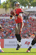 Tampa Bay Buccaneers quarterback Mike Glennon (8) during the Buccaneers 27-6 win over the Buffalo Bills at Raymond James Stadium on Dec. 8, 2013   in Tampa, Florida.        ©2013 Scott A. Miller