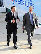 © Licensed to London News Pictures. 04/10/2011. MANCHESTER. UK. Prime Minister David Cameron and Education Secretary Michael Gove at The Conservative Party Conference at Manchester Central today, October 4, 2011. Photo credit:  Stephen Simpson/LNP