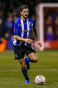 Sheffield Wednesday midfielder George Boyd (21) on the ball during the The FA Cup 3rd round replay match between Luton Town and Sheffield Wednesday at Kenilworth Road, Luton, England on 15 January 2019.