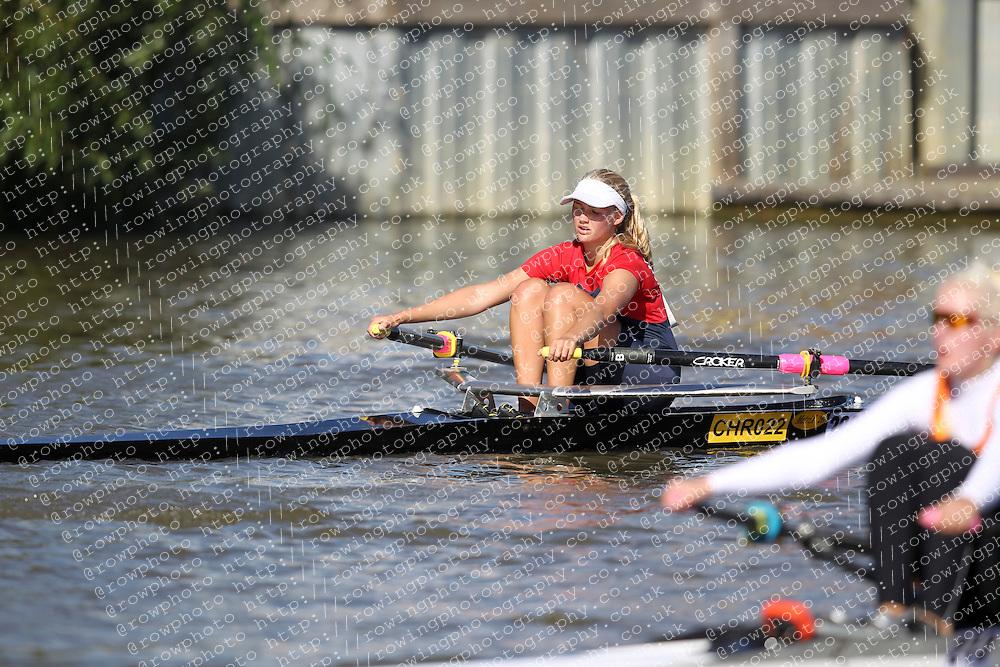 29.09.2012. Wallingford Long Distance Sculls 2012, The River Thames. Division 1. W.J17A 1x. Sir William Borlase Grammar School Boat Club.