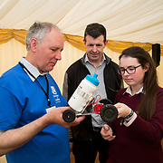 02.05.2017.       <br /> The Limerick for Engineering Showcase returned for its third year to the South Court Hotel in Raheen as demand for engineers in Limerick and the Mid-West region surges. <br /> <br /> Pictured at the event were, Peter Williams, School of Engineering, UL with Frank Meaney and Saoirse Meaney, Laurel Hill. Picture: Alan Place.