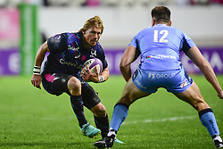 October 21, 2017 - Paris, France, France - Charl McLeod (Stade Fr) vs J Williams  (Credit Image: © Panoramic via ZUMA Press)