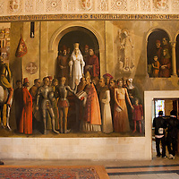 The mural of the coronation of Queen Isabella in the Gallery Room of the Alcazar