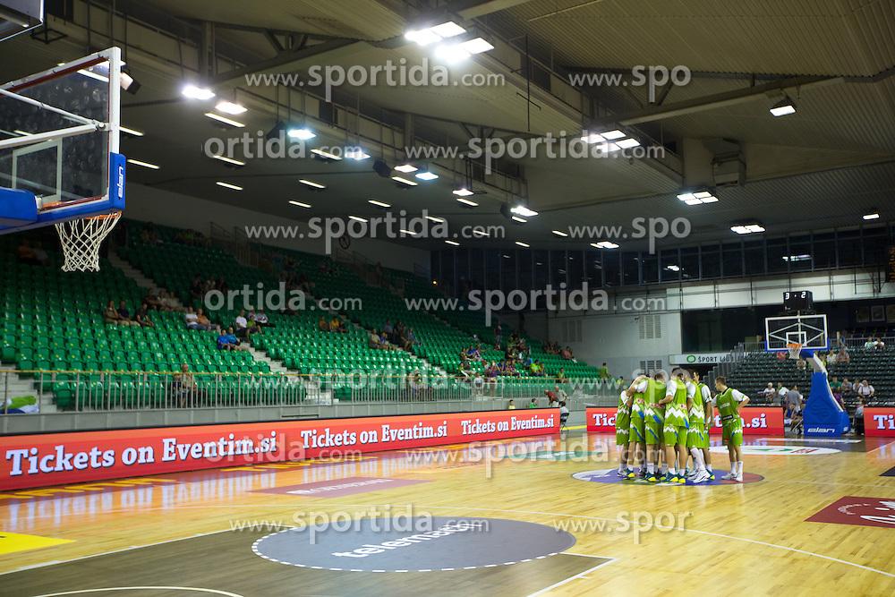 Team Slovenia during friendly match between National teams of Slovenia and Russia for Eurobasket 2013 on August 18, 2013 in Hala Tivoli, Ljubljana, Slovenia. (Photo by Matic Klansek Velej / Sportida.com)