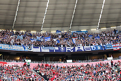 26.10.2013, Allianz Arena, Muenchen, GER, 1. FBL, FC Bayern Muenchen vs Hertha BSC Berlin, 10. Runde, im Bild Fans (Hertha BSC) // during the German Bundesliga 10th round match between FC Bayern Munich and Hertha BSC Berlin at the Allianz Arena in Muenchen, Germany on 2013/10/26. EXPA Pictures © 2013, PhotoCredit: EXPA/ Eibner-Pressefoto/ Kolbert<br /> <br /> *****ATTENTION - OUT of GER*****