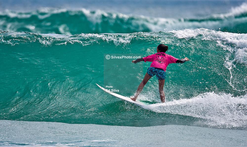 HUNTINGTON BEACH, California/USA (Saturday,July 26, 2008) 14 year old surf prodigy Malia Manuel wins the  U.S. Open of Surfing 2011. Photo: Eduardo E. Silva.