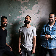 June 28, 2016 - New York, NY : From left, Dhruv Chopra, Jake Rosenthal, and Rami Haykal, who co-owned the Williamsburg performance space 'Glasslands Gallery,' until it closed in 2014, pose for a portrait inside the still-under-construction 599 Johnson Ave. on Tuesday afternoon. The trio are planning to open their new venue 'Elsewhere' at 599 Johnson Ave. in Bushwick, Brooklyn. CREDIT: Karsten Moran for The New York Times