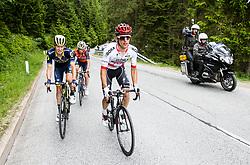 Jack Haig (AUS) of Orica - Scott, Giovanni Visconti (ITA) of Bahrain-Merida and Rafal Majka (POL) of Bora - Hansgrohe during Stage 3 of 24th Tour of Slovenia 2017 / Tour de Slovenie from Celje to Rogla (167,7 km) cycling race on June 16, 2017 in Slovenia. Photo by Vid Ponikvar / Sportida