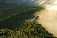 France, languedoc Roussillon, Lozère (48), Cevennes, mer de nuages au dessus de Florac