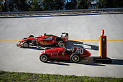 September 3-5, 2015 - Italian Grand Prix at Monza: Ferrari event on the old monza banking with the SF15-T and Fangio's 166 F2
