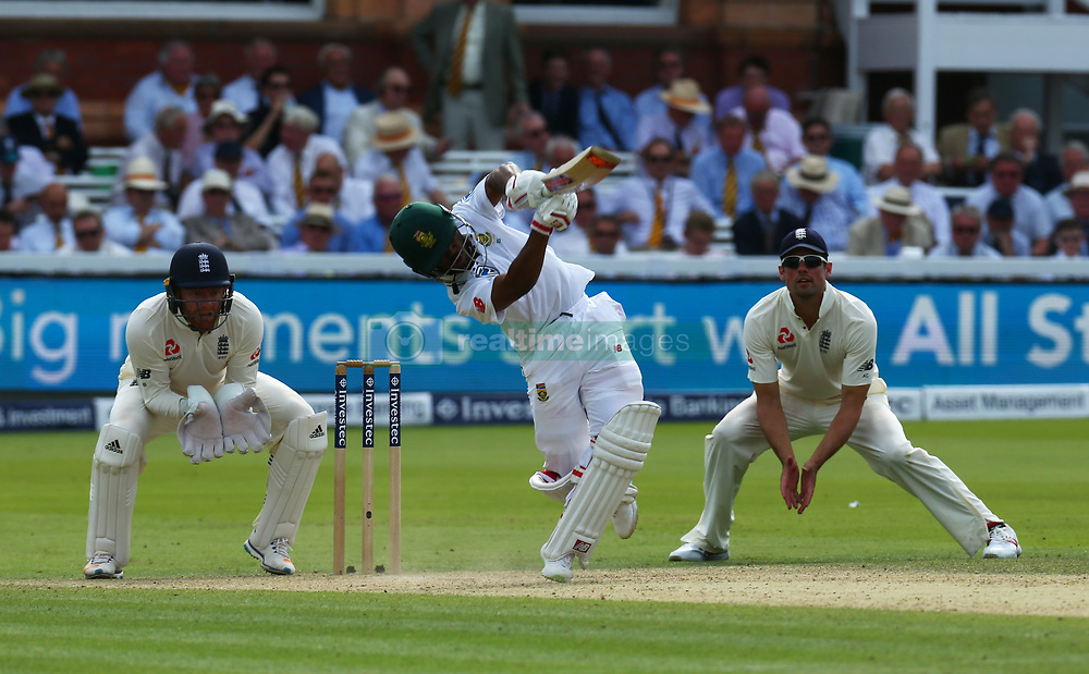 July 7, 2017 - London, United Kingdom - Temba Bavuma of South Africa .during 1st Investec Test Match between England and South Africa at Lord's Cricket Ground in London on July 7, 2017  (Credit Image: © Kieran Galvin/NurPhoto via ZUMA Press)