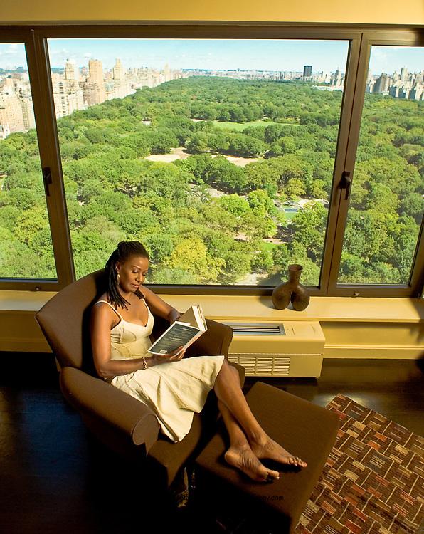 B. Smith in Manhattan condominium overlooking Central Park. GE-Monogram Advertising Campaign