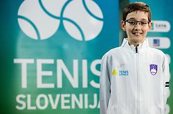 Marko Rep during photo session of best U12 Slovenian tennis players, on January 19, 2019 in TK Triglav, Kranj, Slovenia. Photo by Vid Ponikvar / Sportida