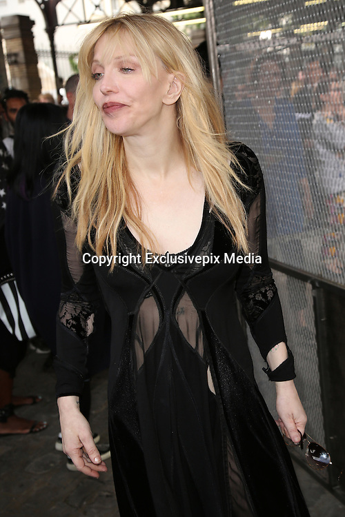 COURTNEY LOVE - GIVENCHY MEN CELEBRITIES AT THE PARADE - SPRING / SUMMER 2016 .<br /> &copy;Exclusivepix Media