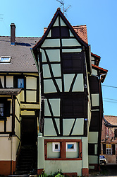 An unusual half timbered house in Bauxwiller, Alsace, France dating from 1623<br /> <br /> (c) Andrew Wilson | Edinburgh Elite media