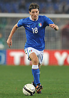 Fotball<br /> Italia<br /> Foto: Insidefoto/Digitalsport<br /> NORWAY ONLY<br /> <br /> Riccardo MONTOLIVO (Italia)<br /> <br /> 15.11.2011<br /> Friendly Match<br /> Italia v Uruguay