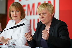 © Licensed to London News Pictures. 24/05/2016. London, UK. Labour Party's prominent female figureheads former Labour leader HARRIET HARMAN and Shadow Business Secretary ANGELA EAGLE speak to set out why women are better off in European Union at Church House in London on Tuesday, 24 May 2016. Photo credit: Tolga Akmen/LNP