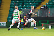 Dundee's Kevin Holt and Celtic's Gary Mackay-Steven - Celtic v Dundee in the Ladbrokes Scottish Premiership at Celtic Park, Glasgow. Photo: David Young<br /> <br />  - © David Young - www.davidyoungphoto.co.uk - email: davidyoungphoto@gmail.com