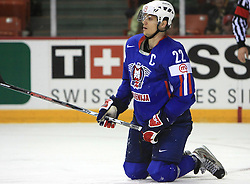 Marcel  Rodman of Slovenia  at ice-hockey game Slovenia vs Slovakia at second game in  Relegation  Round (group G) of IIHF WC 2008 in Halifax, on May 10, 2008 in Metro Center, Halifax, Nova Scotia, Canada. Slovakia won after penalty shots 4:3.  (Photo by Vid Ponikvar / Sportal Images)