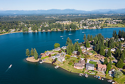 United States, Washington, Lake Tapps  (aerial view)