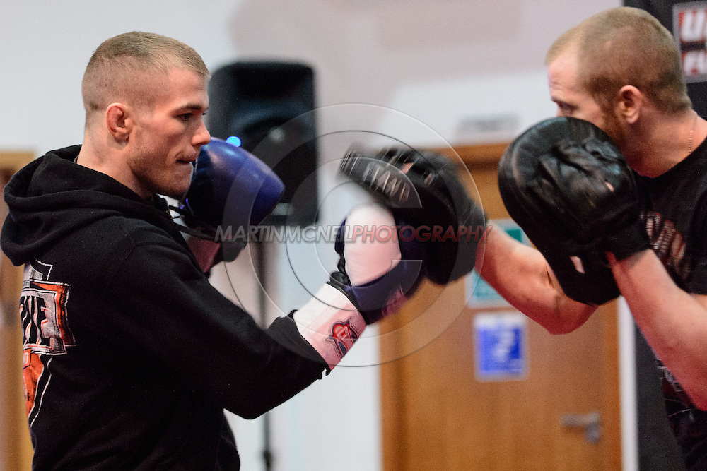 LONDON, ENGLAND, FEBRUARY 13, 2013: Michael McDonald during the open work-out session for UFC on Fuel TV 7 inside London Shootfighters Gym in Park Royal, London, England on Wednesday, February 13, 2013 © Martin McNeil
