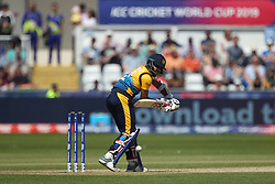 June 28, 2019 - Chester Le Street, County Durham, United Kingdom - Kusal Mendis of Sri Lanka batting during the ICC Cricket World Cup 2019 match between Sri Lanka and South Africa at Emirates Riverside, Chester le Street on Friday 28th June 2019. (Credit Image: © Mi News/NurPhoto via ZUMA Press)