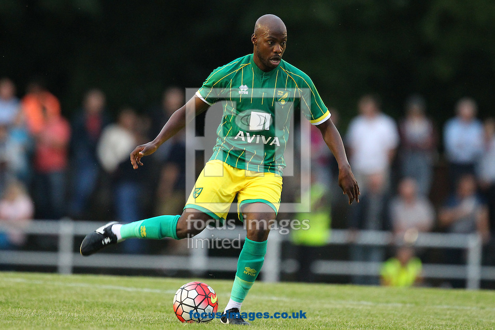 Youssouf Mulumbu of Norwich in action during the friendly match at Top Field, Hitchin<br /> Picture by Paul Chesterton/Focus Images Ltd +44 7904 640267<br /> 14/07/2015