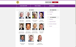 "© Licensed to London News Pictures . 08/12/2014 . UK . "" After "" image . Live screen grab from the UKIP website's "" Key People "" page with Roger Bird 's profile removed . UKIP have suspended its general secretary Roger Bird following allegations of impropriety . Photo credit : Joel Goodman/LNP"