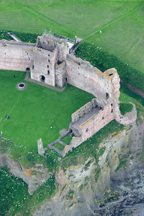 Aerial shot of Tantallon castle, nr Dunbar, East Lothian, Scotland