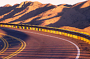 Mount Lemmon Highway: newly paved and widened road near Babat Duag rest area, curve in road, striping, guard rail near Mount Lemmon, Arizona..Media Usage:.Subject photograph(s) are copyrighted Edward McCain. All rights are reserved except those specifically granted by McCain Photography in writing...McCain Photography.211 S 4th Avenue.Tucson, AZ 85701-2103.(520) 623-1998.mobile: (520) 990-0999.fax: (520) 623-1190.http://www.mccainphoto.com.edward@mccainphoto.com