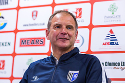Gillingham caretaker manager Steve Lovell during the post-match press conference against Rotherham United - Mandatory by-line: Ryan Crockett/JMP - 28/10/2017 - FOOTBALL - Aesseal New York Stadium - Rotherham, England - Rotherham United v Gillingham - Sky Bet League One