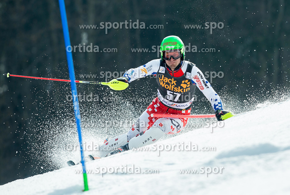 KRYZL Krystof of Czech Republic competes during 1st Run of Men Slalom race of FIS Alpine Ski World Cup 54th Vitranc Cup 2015, on March 15, 2015 in Kranjska Gora, Slovenia. Photo by Vid Ponikvar / Sportida