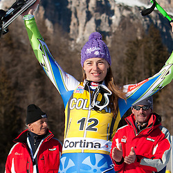 20120115: ITA, Alpine Ski - FIS Alpine Ski World Cup, Ladies Super G in Cortina d'Ampezzo