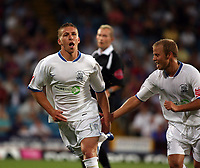 Photo: Chris Ratcliffe.<br /> Crystal Palace v Southend United. Coca Cola Championship. 08/08/2006.<br /> Freddy Eastwood of Southend celebrates scoring the first Southend goal with Luke Guttridge (R).