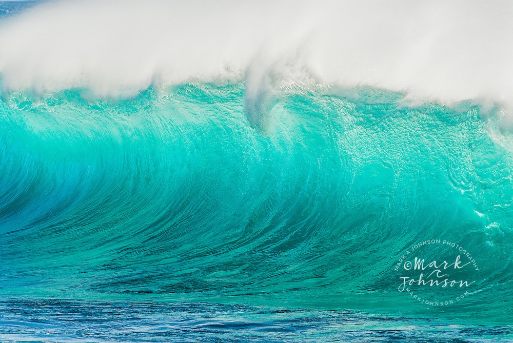 Backlit Wave Breaking Off The Coast Of Oahu Hawaii As