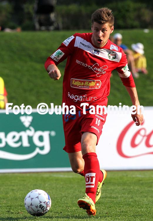 23.5.2014, Keskuskentt&auml;, Sein&auml;joki.<br /> Veikkausliiga 2014.<br /> Sein&auml;joen Jalkapallokerho - FF Jaro.<br /> Jonas Emet - Jaro