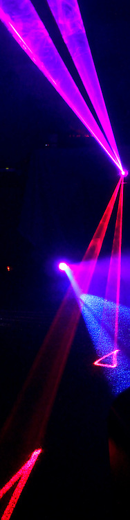 Lasers at a club.