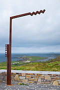 Wild Atlantic Way sign on the Sky Road, Clifden, Connemara, Galway, Ireland