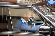 Prince William leaves the wing © Licensed to London News Pictures. 02/05/2015. London, UK The Duke and Duchess of Cambridge appear on the steps of the Lindo Wing at St Mary's Hospital, Paddington, London today 2nd May 2015 with their newborn little girl. The Child will be the fourth in line to the throne. Photo credit : Stephen Simpson/LNP